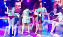 แรงหึง!! สาวบุกผลักแดนเซอร์ ขณะเต้นยั่วยวนแฟนหนุ่มจนตกเวที