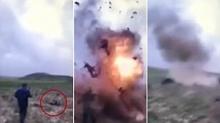 เปิดคลิปนาทีระทึก!! นักรบไอเอสจุดระเบิดฆ่าตัวตาย หลัง ตร.อิรักบุกชาร์จตัว