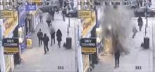 ระทึก! หลังคาตึกถล่มกลางถนนคนเดินในกรุงลอนดอน