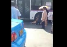 อุทาหรณ์ลงรถเมล์ ระวังโดนเหยียบขาเละ