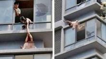 แชร์ว่อนเน็ตจีน เมียน้อยเปลือยโดดตึกโรงแรมหนีเมียหลวงสุดระทึก!!