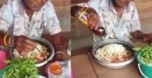 ว่อนโซเชี่ยล อัดคลิปแฉ มนุษย์ลุง จ่าย 40 กินซะ 120 จิกกัดเรื่องกินขนมจีนจานยักษ์