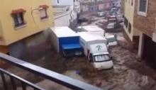 ฝนถล่มสเปน..น้ำท่วมฉับพลันไปทั่วเมือง