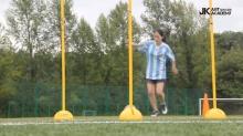 สาวเกาหลี หน้าตาสุดแบ๊ว แต่เสต็ปบอลเธอ เทพจริง ๆ
