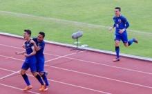 ชมจังหวะประตูชัยของทีมชาติไทย 1-0 ทีมชาติมาเลเซีย จากการทำประตูของกัปตันตังค์ – สารัช อยู่เย็น