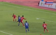 ดูกันเน้นๆ!! จังหวะ สิทธิโชค กันหนู ยิงให้ทีมชาติไทย ขึ้นนำ ฟิลิปปินส์ เป็น 2-0