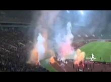 เกมบอลโลกรอบคัดเลือก มาเลย์ - ซาอุฯหยุดแข่งหลังแฟนบอลป่วนจุดพลุ