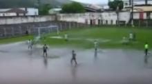 น้ำท่วมก็ไม่หวั่น!! ลีกซีเรียบี บราซิล เตะบอลกันมันส์ไม่เลิก...