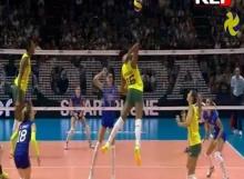 วอลเลย์บอล บราซิล ชนะ อิตาลี 3-1 เซต วอลเลย์บอลหญิงชิงแชมป์โลก 2014