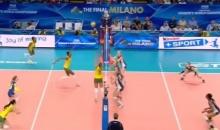 วอลเลย์บอล อเมริกา ชนะ บราซิล วอลเลย์บอลหญิงชิงแชมป์โลก 2014