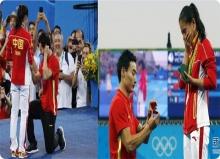 หวานซึ้ง สะท้านโลก! นักกีฬาจีน คุกเข่าขอแต่งงาน ระหว่าง ถ่ายทอดสด โอลิมปิค!(คลิป)