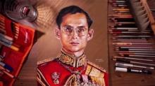 แชร์สนั่น! ศิลปินเกาหลี วาดภาพพระบรมฉายาลักษณ์ ในหลวง ได้อย่างงดงาม