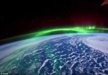 งดงาม!!นาซ่าเผยภาพแสงเหนือจากนอกโลก