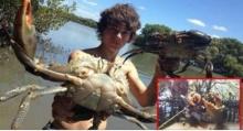 โคตรเจ๋ง!! เด็กหนุ่มไล่ล่าจับปูยักษ์ก้ามโตด้วย 2มือเปล่า เพื่อนำมาทำซีฟู้ดทะเล!!