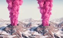 ตะลึงทั้งโลก!! ภูเขาไฟควันสีชมพู ปรากฏการณ์ที่ไม่เคยพบเจอมาก่อน (คลิป)