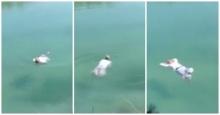เหลือเชื่อ!!! ชาวเน็ตแห่แชร์ แม่ชีลอยน้ำได้