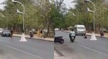 ชาวเน็ตวิจารณ์!! สาวถ่ายพรีเวดดิ้งกลางถนนภูเก็ต ไม่กลัวรถชน